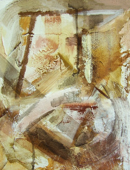 Painting experiment with acrylic,pigments,textures - Jenny Meehan