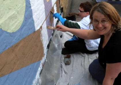 silicate mineral paint mural twickenham artist jenny meehan