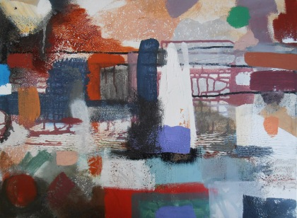 london, southbank,southwark,memory painting,thames,river thames london painting,river thames abstract painting,semi abstract urban landscape london,water,rain,buildings,urban view,river thames southbank,emotional lyrical romantic imaginative painting of london,