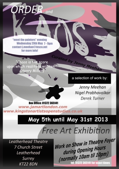 Order and KAOS Exhibition at Leatherhead Theatre