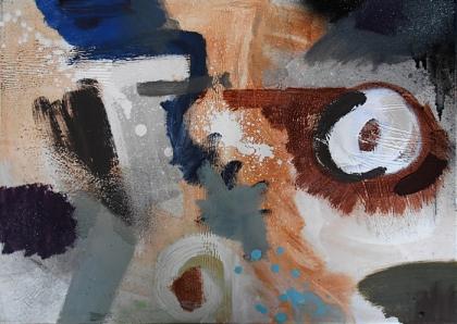 """pillar and moon"" paul nash painting imaginative interpretation,jenny meehan jamartlondon.com lyrical and geometric abstraction modern contemporary british female painter,process led painting uk,"