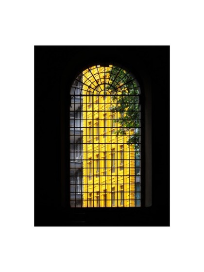 "one of thirteen digital prints taken from photographic project at st giles in the fields anglican church london while rehearesals for ""when the fallen sang"" play going on. prints available to buy from jenny meehan   jamartlondon.com palladian style window architecture church london west end"