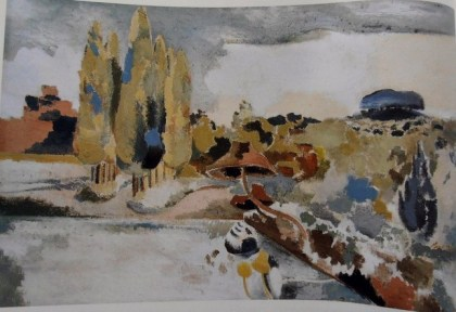 paul nash landscape of the brown fungus british painting influencing jenny meehan modern painting landscape british semi abstract