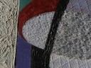 All Glass abstract painting with glass beads - Jenny Meehan influenced by John Tunnard's painting