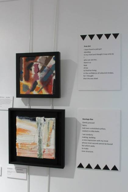 jenny meehan paintings at the institute of Mental Health Nottingham part of Recovery City Arts Exhibition