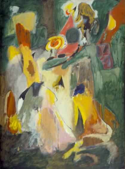 waterfall 1943 arshile gorky at tate modern