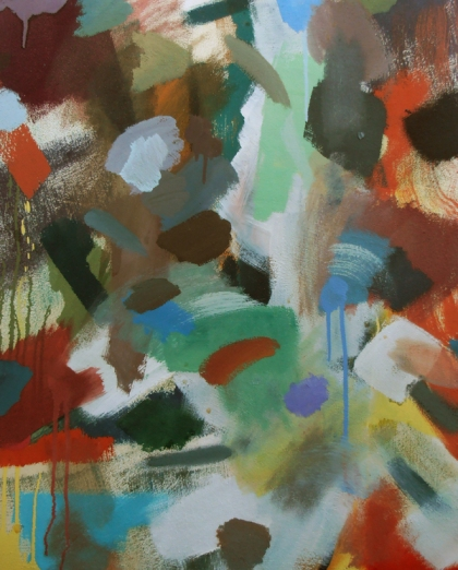 waterfall painting jenny meehan silica sol,third generation silica sol mineral paints keim, keim contact grobb in fine art easel painting, jenny meehan waterfall imaginative abstract expressionistic,modern 21st century female artist painter,