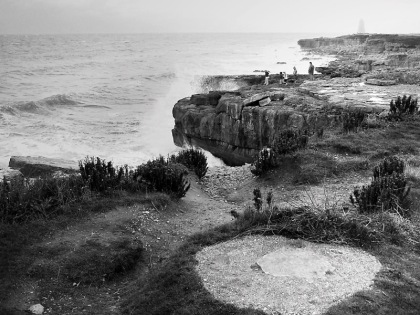 portland bill portland bill portland sussex, jenny meehan digital photography image, black and white image portland bill, monochrome photograph of portland bill sussex uk,