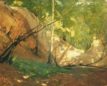 paintings influencing jenny meehan, A Glade Near Midhurst  by William Nicholson(c) Elizabeth Banks; Supplied by The Public Catalogue Foundation