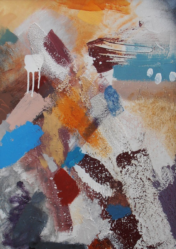 Cove British painting Lyrical Abstraction style by artist designer jenny meehan jennyjimjams colour original abstract artwork to buy and image licensing ©Jenny Meehan