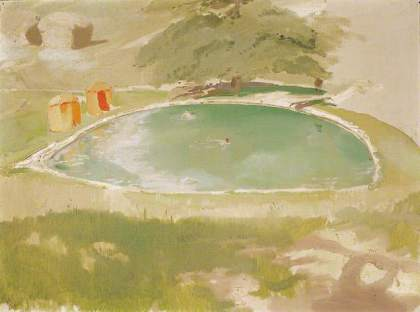the bathing pool at chartwell by william nicholson photo credit national trust © Elizabeth Banks