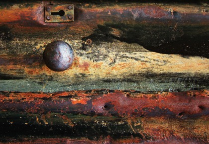 jenny meehan imagery, jenny meehan visual art, moon key photograph jenny meehan rusted metal door
