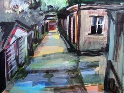 sketch of chessington rear access road jenny meehan