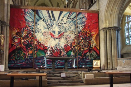 Ursula Benker-Schirmir in the retro-choir chichester cathedral