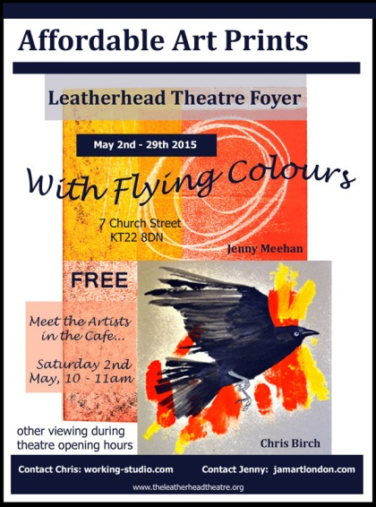 free art exhibition jenny meehan and chris birch Flying Colours Leatherhead Theatre