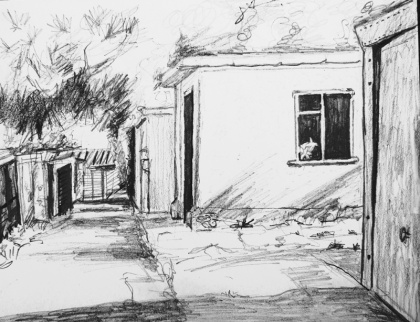 rear access road chessington drawing 2 jenny meehan