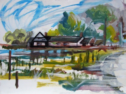 bosham landscape view painting jenny meehan
