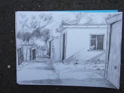 rear access roads chessington art jenny meehan