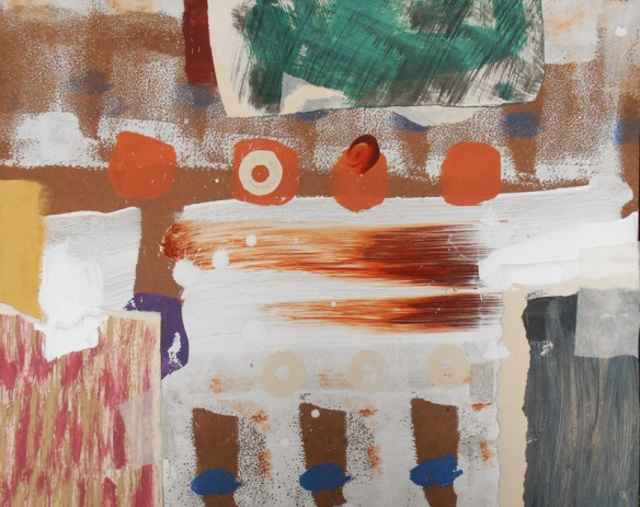 Mending British painting Lyrical Abstraction style by artist designer jenny meehan jennyjimjams colour original abstract artwork to buy and image licensing ©Jenny Meehan