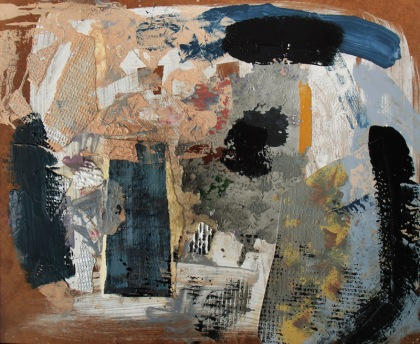abstract expressionist collage painting jenny meehan jamartlondon snail in the studio artists studio paintings