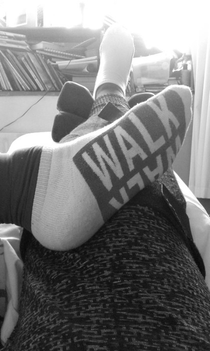 love my walk socks. But not doing all that much walking at the moment after TKR