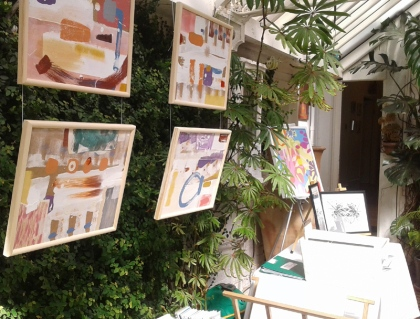 jenny meehan at 2017 south west london/east surrey Kingston Artists Open Studios event contemporary female artist painter jenny meehan