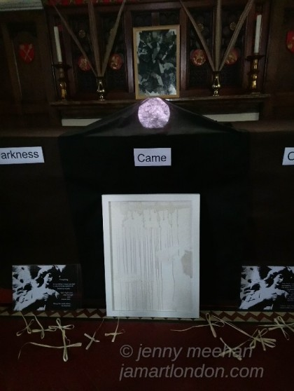 holy week art installation at st pauls church of england hook jenny meehan jamartlondon contemporary christian art in place of worship