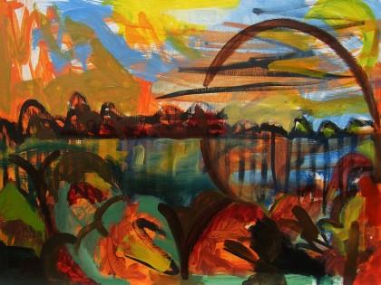 internal landscape jenny meehan representational original fine painting landscape jenny meehan expressionist