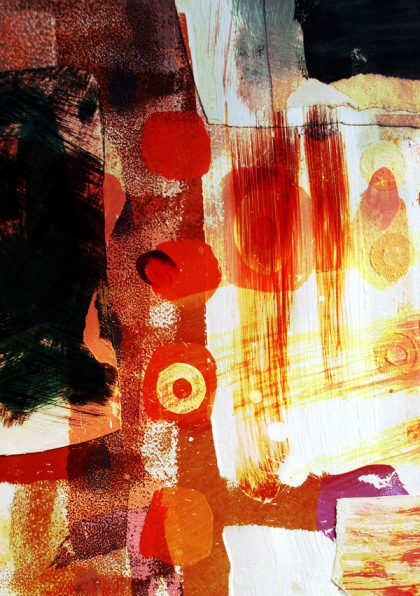 hotstuff golden haze jenny meehan lyrical abstraction affordable print, jamartlondon, lyrical abstraction british, contemporary lyrical abstraction,female painter