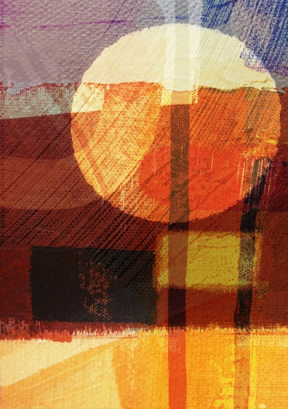 jenny meehan art prints abstract digital collage, desert sun, painting print, jenny meehan, jamartlondon, circle art print