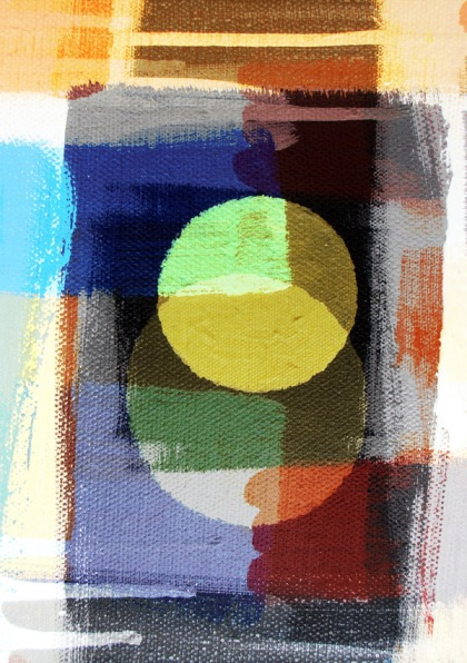 first day morning abstract art image licensable ©jenny meehan, circles, moon, sun,light,day,digital collage,emotive,spiritual art,geometric abstraction