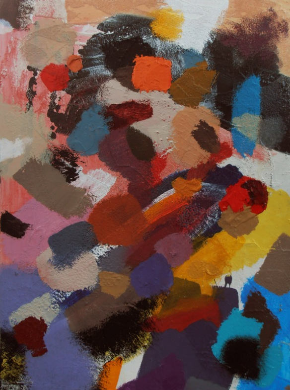 The Gift of Orange British contemporary Artist Designer Jenny Meehan abstract painting