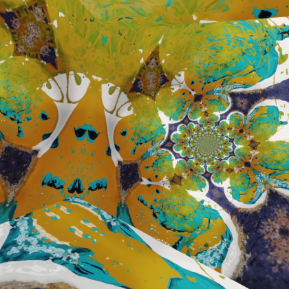 PSYCHEDELIA keim galaxies jenny meehan abstract pattern contemporary design inspired by Keim mineral paints UK paint colour mixing images for modern interiors and exterior wall decoration © jenny meehan