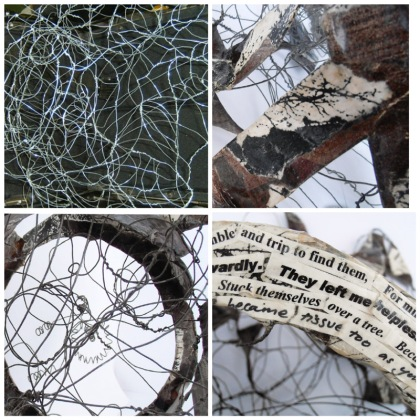 articulation sculpture, jenny meehan, wire and paper sculpture, psychotherapy, art therapy, subconscious, healing art, trauma recovery, british artist, ©jenny meehan