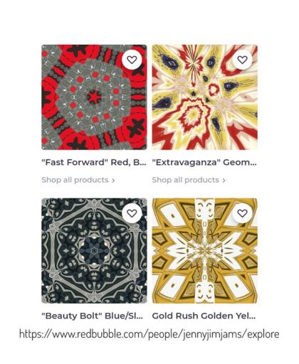 "jenny meehan british contemporary artist ©jenny meehan ""keim galaxies"" geometric and lyrical abstract digital prints, jennyjimjams redbubble.com prints, jenny meehan art design on redbubble.com,"