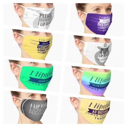 deaf,Deaf,reusable,cloth,facemask, fabric face mask, face covering, mask, disability awareness, lipreading, lipreader, hard of hearing, non-medical face masks, covid-19, coronavirus, pandemic, designer_jennymeehan ©jenny meehan