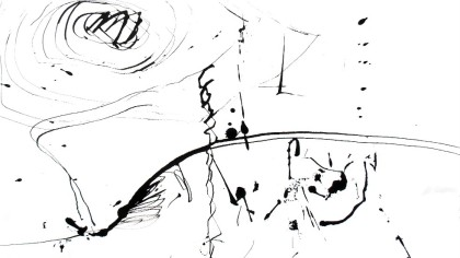 ink internal landscape, full of song when keyed together, jenny meehan, drawing, ink, stick, abstract expressionist, landscape, imagination, mind, music, visual sound,