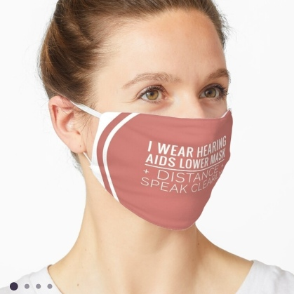 Deaf Awareness lipreading masks; Coronavirus Pandemic Mass Masking; s Reusable masks and Accessories for deaf people deaf awareness shop at Redbubble designed by Jenny Meehan jennyjimjams.redbubble.com