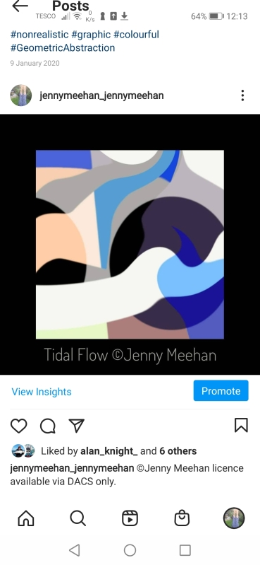 Tidal flow flat colour soft edged abstract Artwork ©artist jenny meehan shop at jennyjimjams.redbubble.com