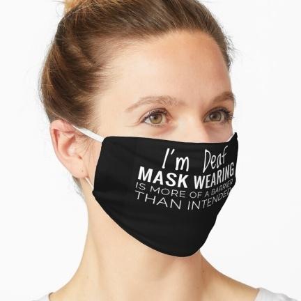 Deaf Awareness Mask Designer Jenny Meehan