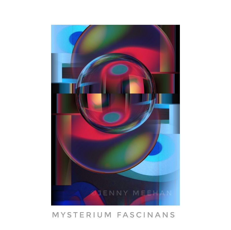 Mysterium Fascinans, Jenny Meehan Abstract Digital Collage, A Visual Meditation on the wonder of the Oneness of Creator God, christianity, christian mystic, christian mysticism, theology. Monotheism, contemplative Christian artist, christian art, religious art, spirituality, spiritual art